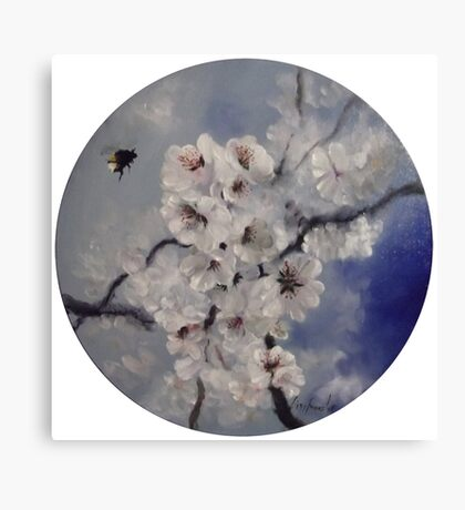 Blossom & the busy bumble bee.. Canvas Print