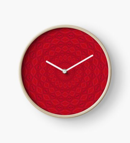 Psychedelic Red Mandala Clock
