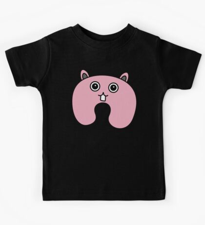 Cute Pink Fluffy Bunny Kids Tee