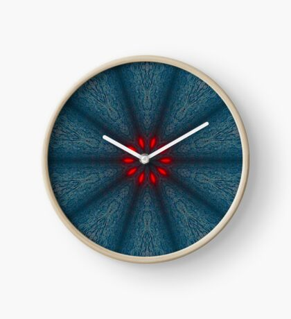 Psychedelic Blue & Red Mandala Clock