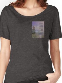 Serenity Prayer Trees Hills Snow Women's Relaxed Fit T-Shirt