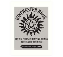 SUPERNATURAL - WINCHESTER BROTHERS Art Print