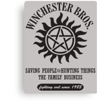 SUPERNATURAL - WINCHESTER BROTHERS Canvas Print