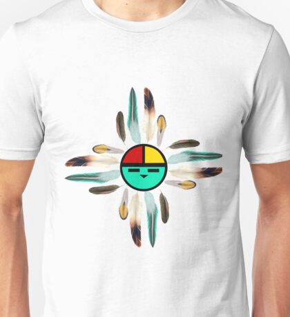 Zia Sun God with feathers Unisex T-Shirt