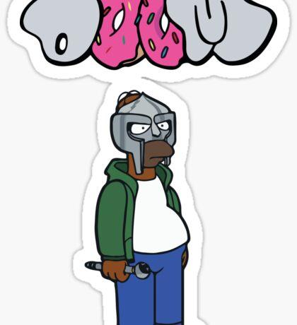 MF Doom Homer Doomer Sticker