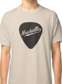 Nashville written on a guitar pick Classic T-Shirt