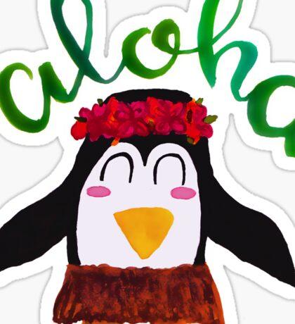 aloha penguin Sticker