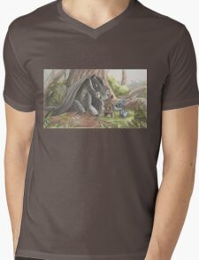 Toothless and Stitch Build a Froghouse Mens V-Neck T-Shirt
