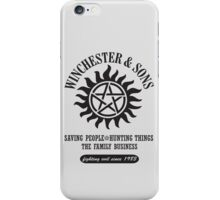 T-SHIRT SUPERNATURAL WINCHESTER & SONS iPhone Case/Skin