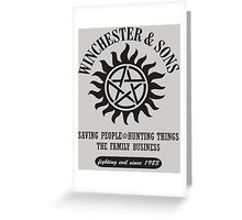 T-SHIRT SUPERNATURAL WINCHESTER & SONS Greeting Card