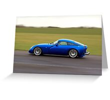 Blue racing car TVR Greeting Card