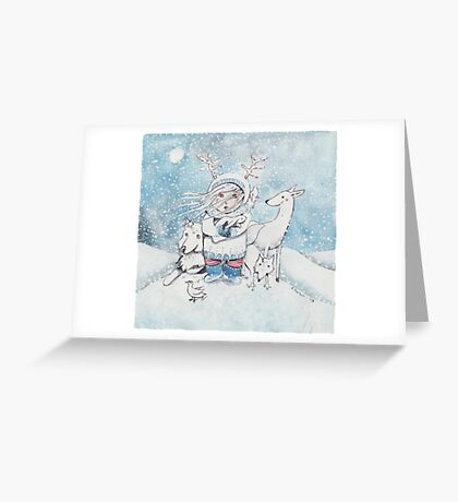 winter waldgott Greeting Card