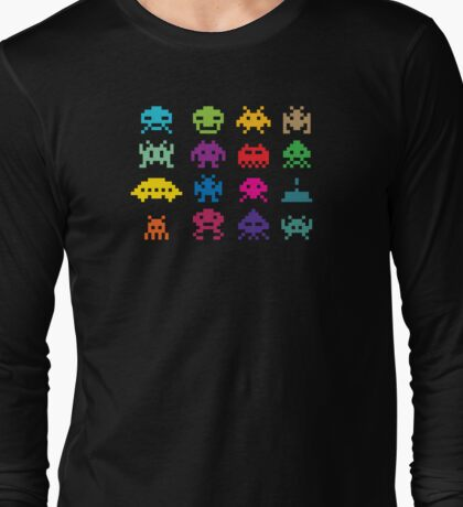Space Invaders Game Long Sleeve T-Shirt