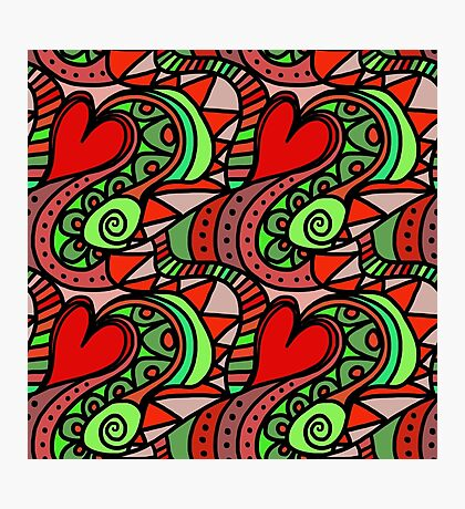 Wallpaper with heart 6 Photographic Print