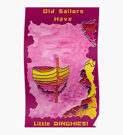 FISHING BOAT CUTE NAUTICAL FUNNY SAILOR QUOTE Poster