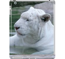 White tiger cooling off in water iPad Case/Skin
