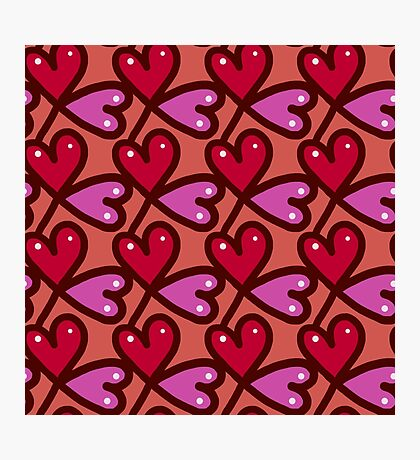 Wallpaper with heart 7 Photographic Print