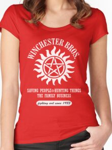 SUPERNATURAL - WINCHESTER BROTHERS SINCE 1983 Women's Fitted Scoop T-Shirt