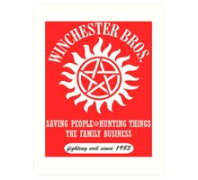 SUPERNATURAL - WINCHESTER BROTHERS SINCE 1983 Art Print