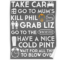 SHAUN OF THE DEAD THE PLAN TO TO LIST Poster