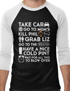 SHAUN OF THE DEAD THE PLAN TO TO LIST Men's Baseball ¾ T-Shirt