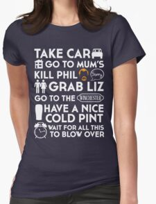 SHAUN OF THE DEAD THE PLAN TO TO LIST Womens Fitted T-Shirt