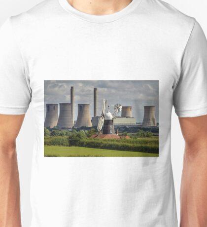 Leverton Windmill and West Burton Power Station Unisex T-Shirt