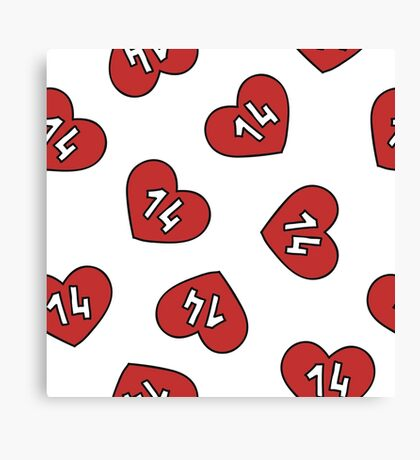 Valentine's Day heart pattern Canvas Print