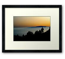 Twilight seascape Framed Print