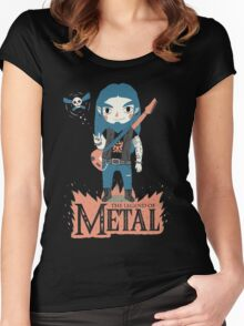 The Legend of Metal Women's Fitted Scoop T-Shirt