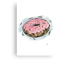 D is for Doughnut! Canvas Print