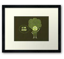 Disgusting Broccoli  Framed Print