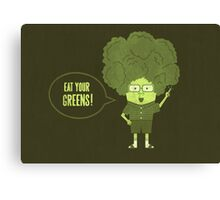 Disgusting Broccoli  Canvas Print