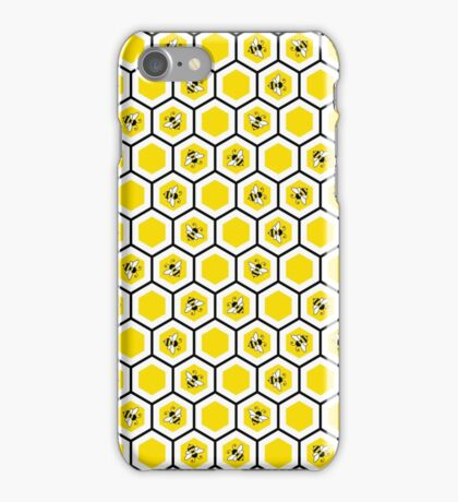 Honeycomb and bee pattern iPhone Case/Skin