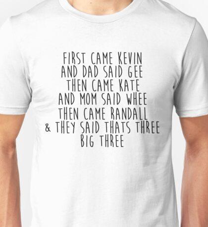 This is Us - The Big Three Unisex T-Shirt