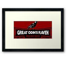 Great Odin's Raven! Single Malt Scotch Framed Print