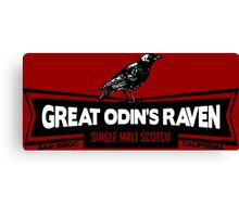Great Odin's Raven! Single Malt Scotch Canvas Print