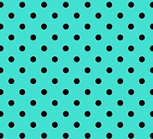 Polkadots Black and Turquoise by Medusa81