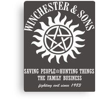 SUPERNATURAL WINCHESTER & SONS t-sHIRT Canvas Print
