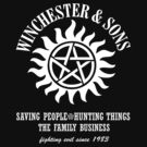 SUPERNATURAL WINCHESTER & SONS t-sHIRT by thischarmingfan