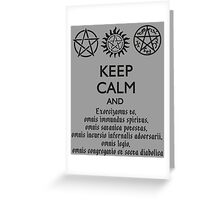 SUPERNATURAL - SPEAKING LATIN Greeting Card