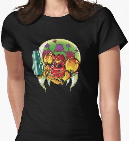Samus Aran Bounty Hunter (Varia) Womens Fitted T-Shirt