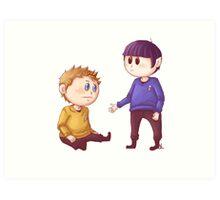 Kirk & Spock Art Print