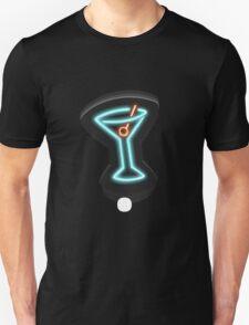 Glitch furniture wall decor neon martini sign T-Shirt