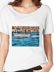 Fast boat in Venice Women's Relaxed Fit T-Shirt