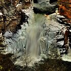 Ice Fringed Linville Falls by Miles Moody