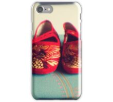 Tiny toes - red chinese baby shoes iPhone Case/Skin