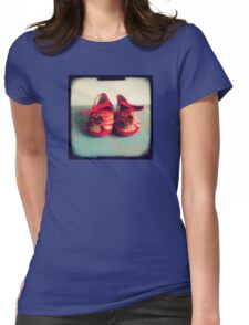 Tiny toes - red chinese baby shoes Womens Fitted T-Shirt