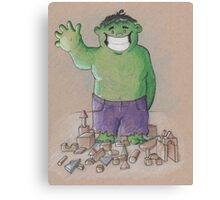 Hulk Smash Puny Blocks!!! Canvas Print