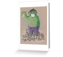 Hulk Smash Puny Blocks!!! Greeting Card